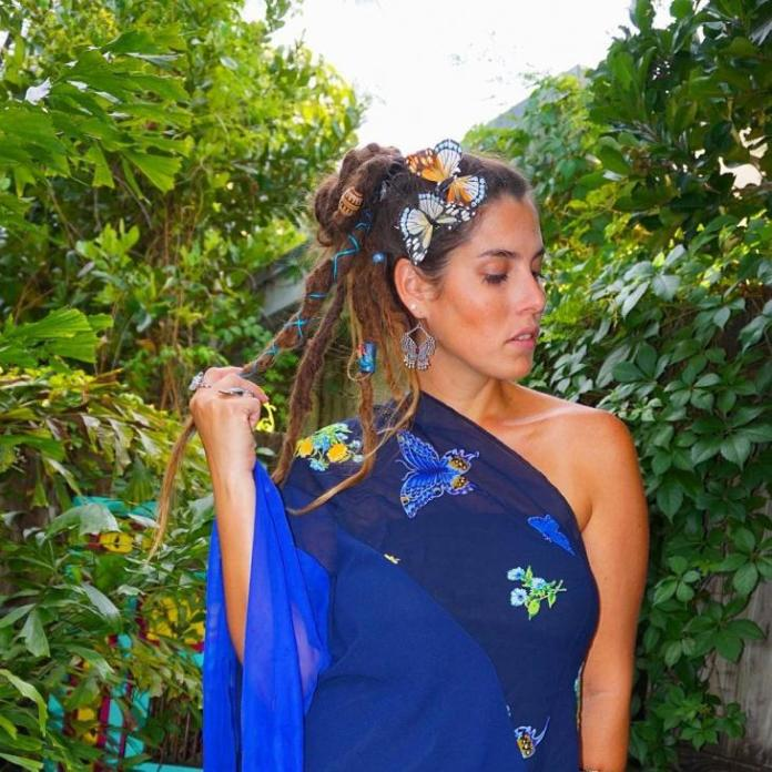 Dreads-Bun Hippie Hairstyles for a Stylish and Reviving Look