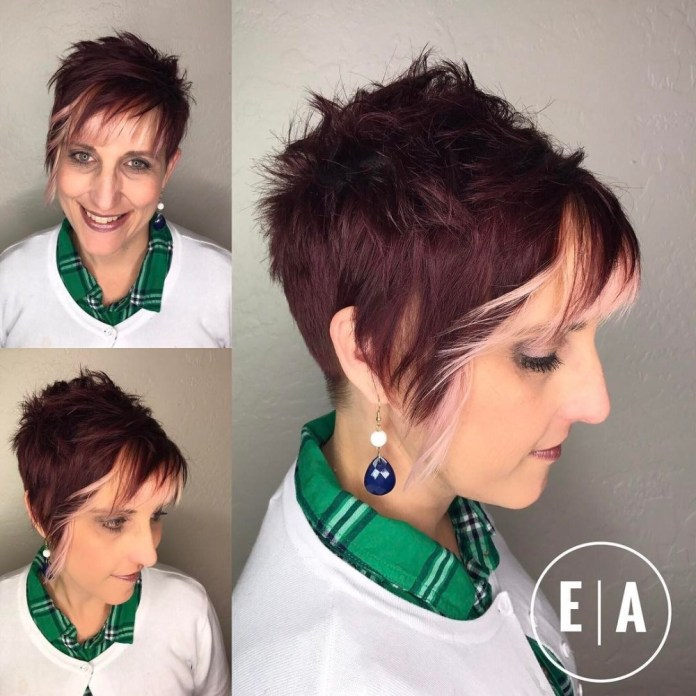 Edgy-Undercut-Pixie Gorgeous Hairstyles and Haircuts for Women Over 40