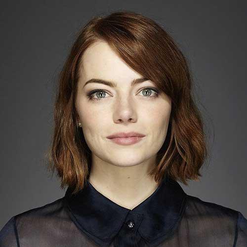 Emma-Stone-Short-Blunt-Hair-for-Women Best Short Hair Cuts For Women