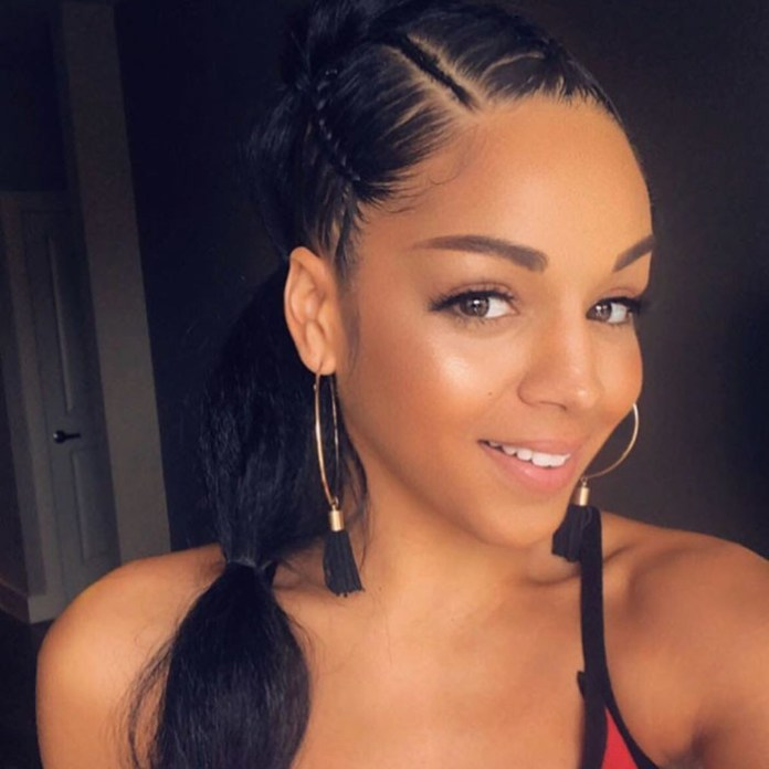 Feed-in-Braids-Ponytail-Puff 10 Glamorous curly ponytails you must try