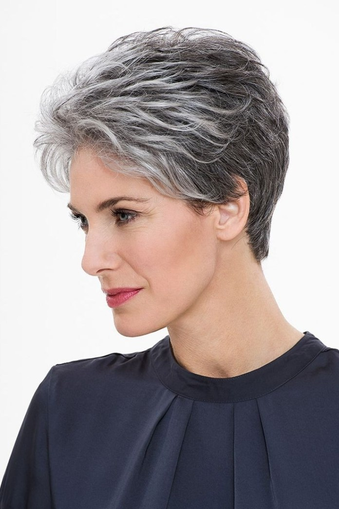 Flicker-Bob Glamorous Grey Hairstyles for Older Women