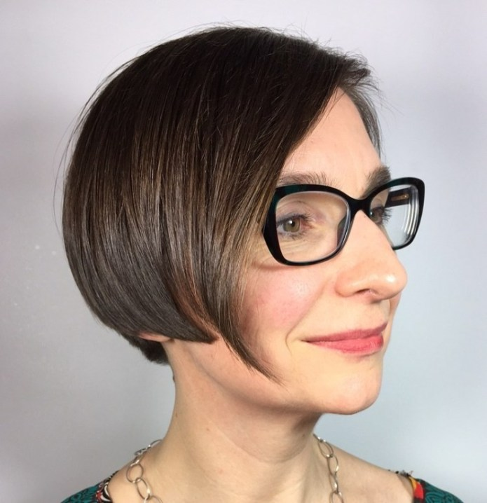 Geometric-Hair-Envy Gorgeous Hairstyles and Haircuts for Women Over 40