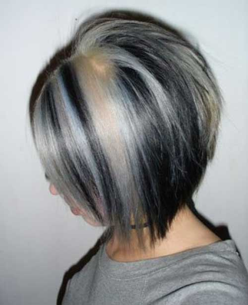 Grey-Ombre-Bob-Hair-Style Short Hairstyle Color Ideas