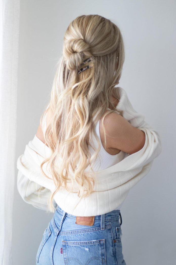 Half-Bun-Hairstyle Mesmerizing Back to School Hairstyles