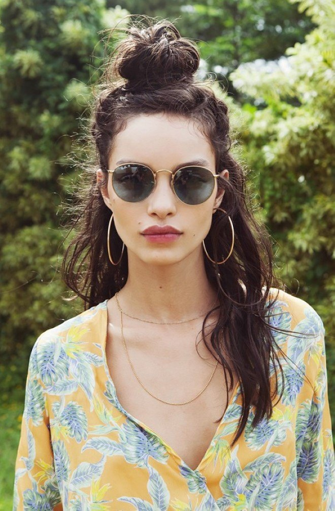 Half-Top-Knot Hippie Hairstyles for a Stylish and Reviving Look