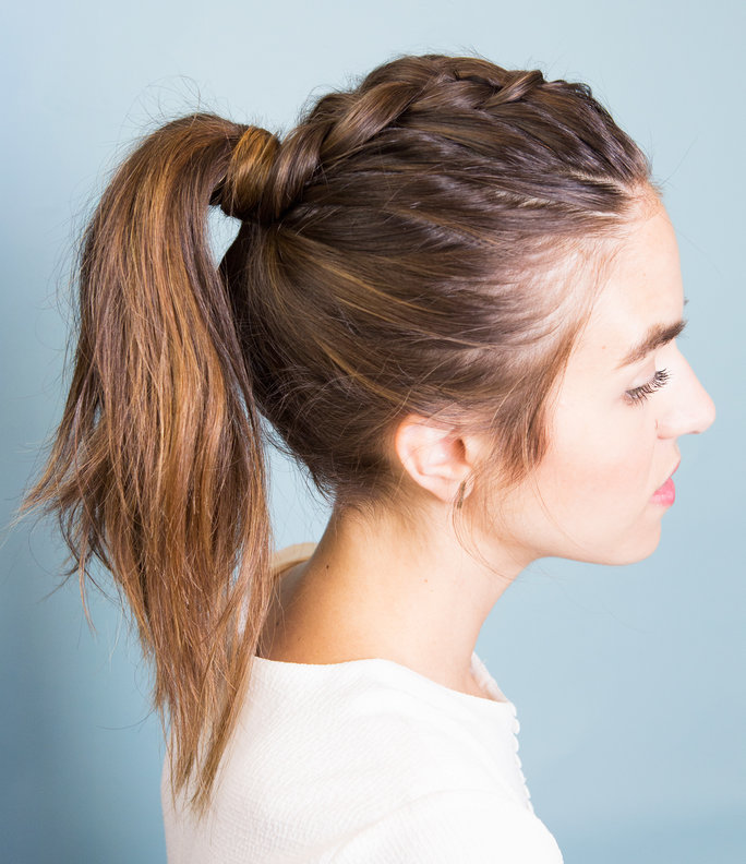 Inside-Out-Braided-Ponytail-Hair Braids Hairstyles for an Ultimate Princess Look