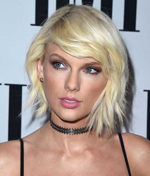 Lastly-Taylor-Swift-with-her-platinum-blonde-bob-hair Best Celebrity Bob Hairstyles