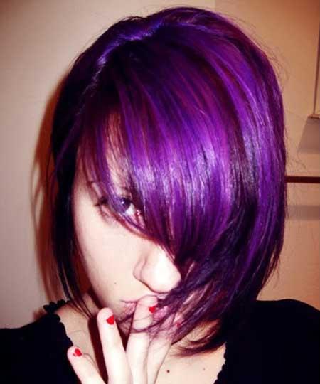 Lavender-Colored-Short-Hair-Idea Short Hair Colors Ideas 2020