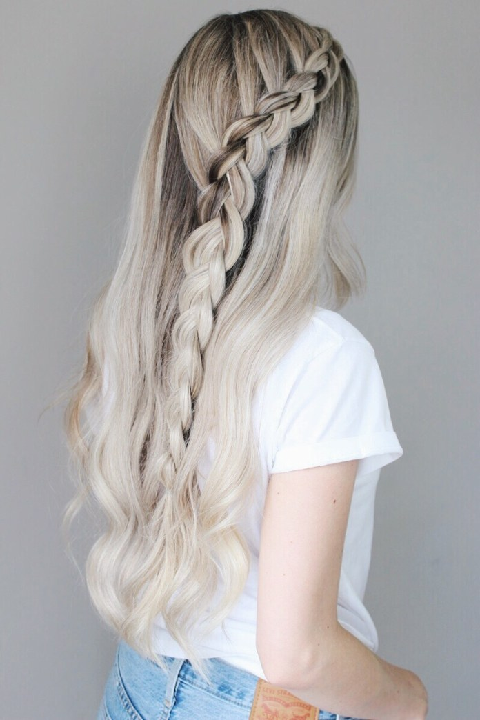 Left-Layered-Braid Mesmerizing Back to School Hairstyles