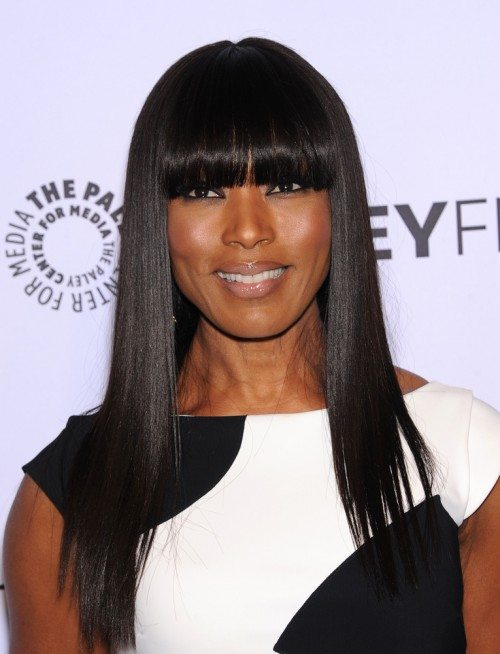 Long-Sleek-Straight-Hair-with-Bangs Long Hairstyles for Women Over 50 – Look Trendy And Fashionable