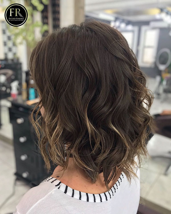 Longer-Bob-Style Lastest Hairstyles For Short Wavy Hair