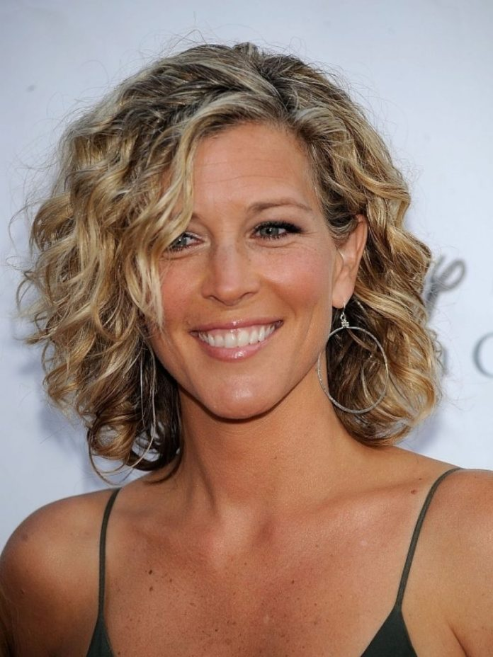 Medium-Blonde-Curly-Bob Curly Hairstyles for Women Over 50