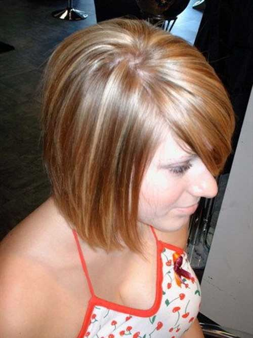 Medium-Inverted-Bob-Hair-with-Side-Bangs Short Trendy Hairstyles 2020