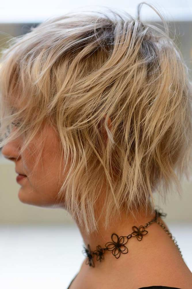 Messy-Wavy-Short-Shag-Cut Easy Hairstyles for Women Over 50
