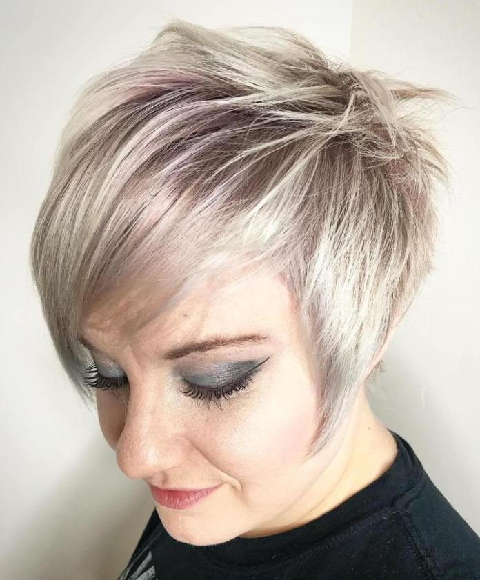 Metallic-Color Gorgeous Hairstyles and Haircuts for Women Over 40