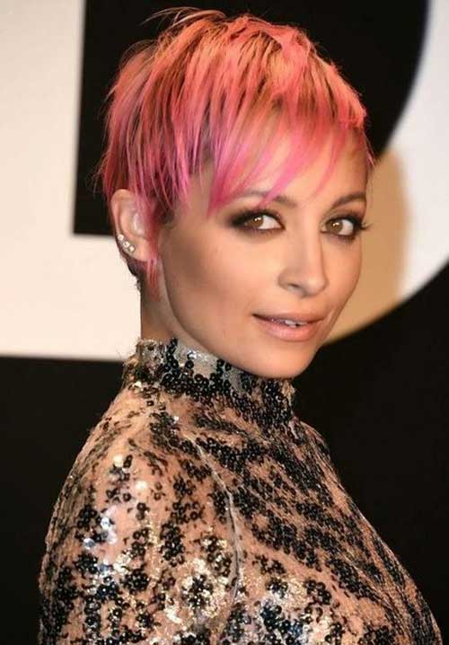 Nicole-Richie's-Pink-Pixie-Hair Pixie Hair Styles for 2020