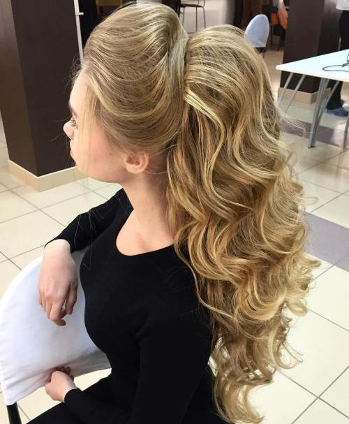 Night-Time-Curls 10 Glamorous curly ponytails you must try