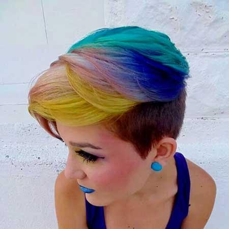 Parrot-Hair-Color-Idea-for-Girls Short Hair Colors Ideas 2020