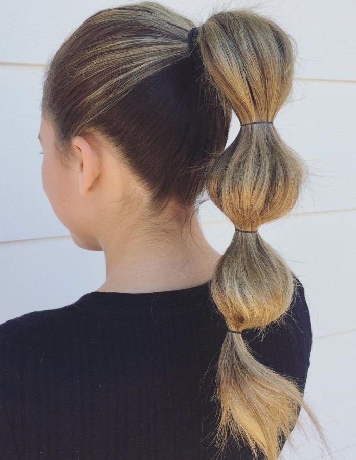 Pom-Pom-Ponytail Mesmerizing Back to School Hairstyles