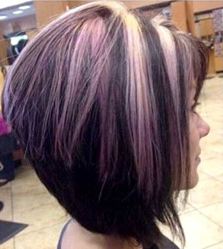 Purple-and-Peach-Highlighted-Hair-for-Women Short Hair Colors Ideas 2020