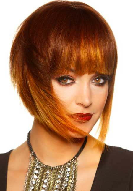 Red-Copper-Sexy-Combination Short hair color ideas