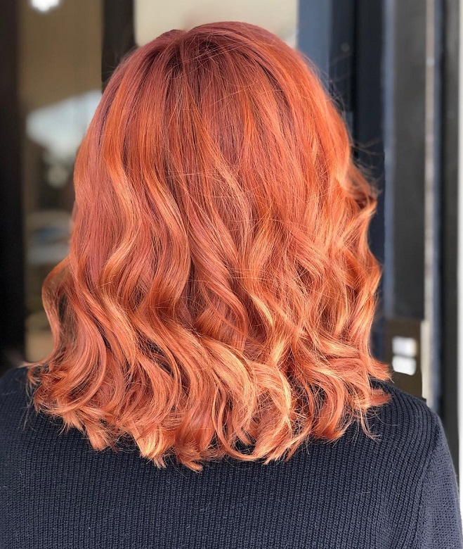 Red-Hairstyle-with-Blonde-Highlights Redhead Hairstyles for Sultry and Sassy Look