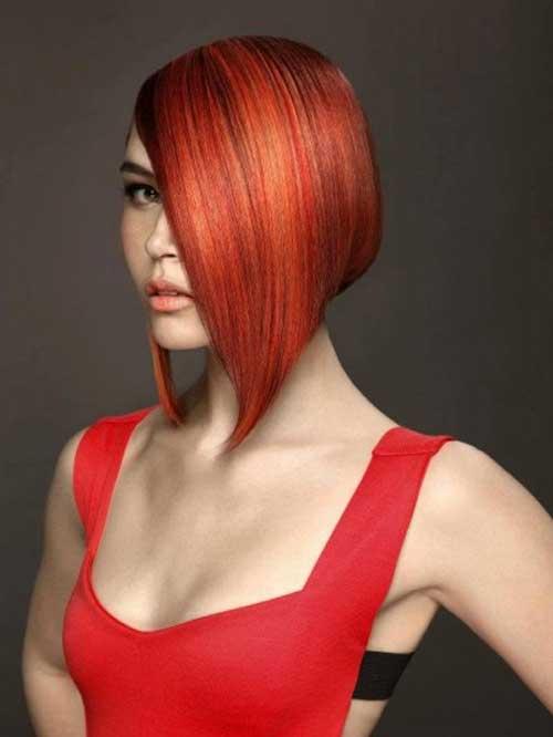 Red-bob-hair-2020 Best Hair Color for Short Hair