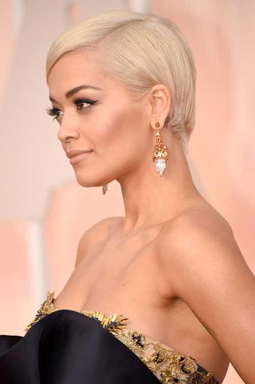 Rita-Ora's-Short-Blonde-Pixie-Haircut Pixie Hair Styles for 2020