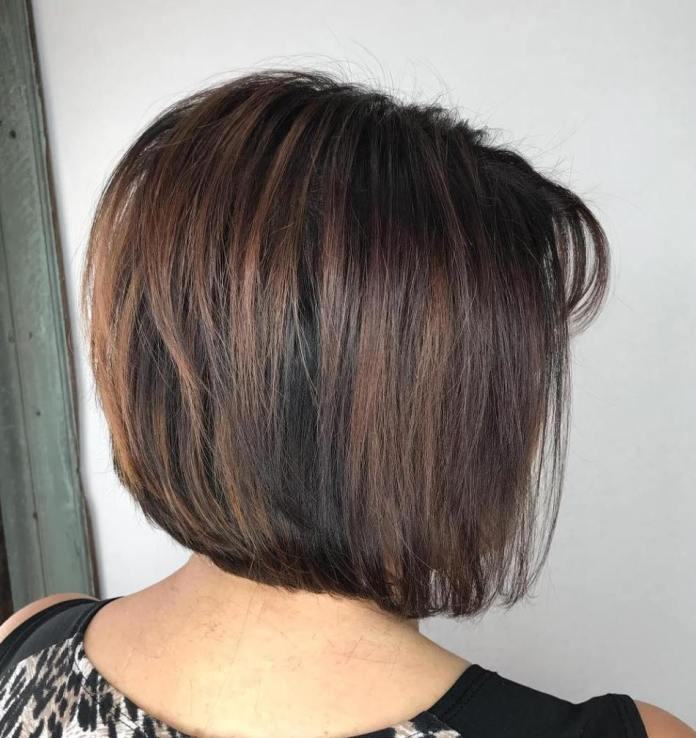 Sassy-Brunette-Bob Gorgeous Hairstyles and Haircuts for Women Over 40