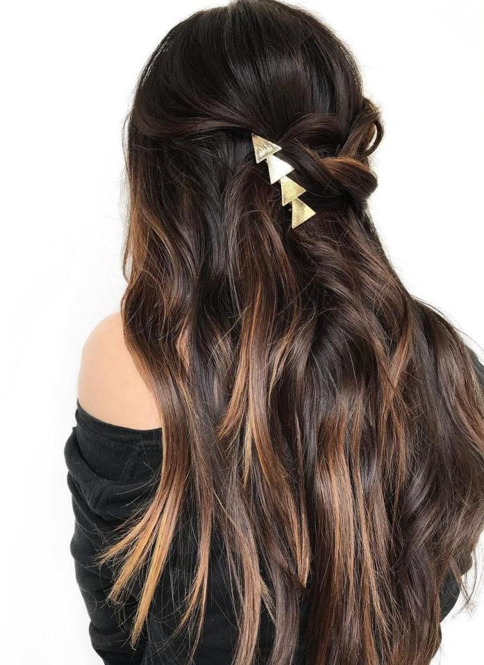 Shaded-Highlights-on-Straight-Black-Hair Most Beautiful Black Hairstyles with Highlights