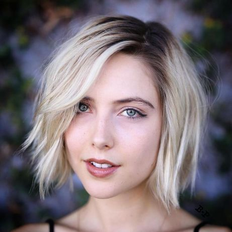 Shaggy-Blonde-Bob-with-Root-Fade 12 Glamorous Bob Haircuts for Fine Hair