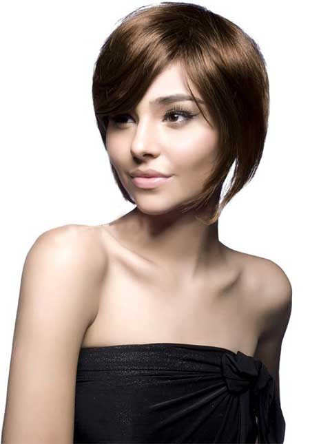 Short-Bob-with-Long-Bangs Short Haircuts for Straight Hair