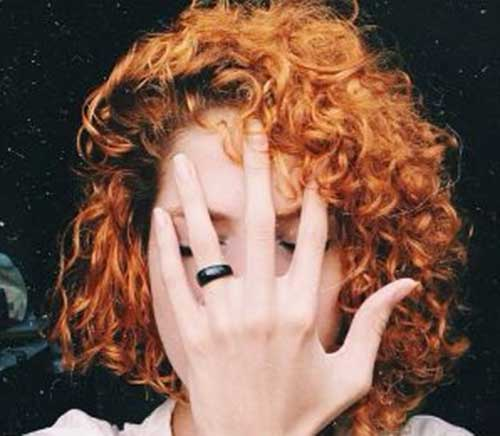 Short-Curly-Red-Hairstyle Cool Short Red Curly Hairstyle