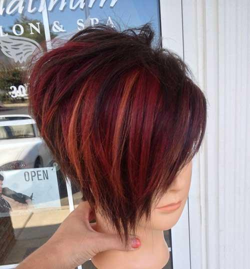 Short-Funky-Hair-Idea Short Hairstyle Color Ideas