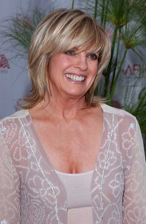Short-Layered-Hair-with-Bangs-Over-50 Pictures Of Short Haircuts For Over 50