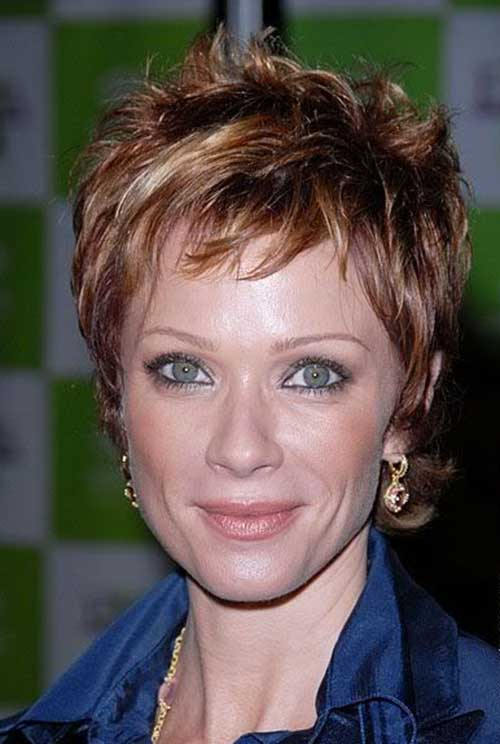Short-Layered-and-Messily-Spiky-Hairstyle-for-Women Short Hairstyles for Older Women