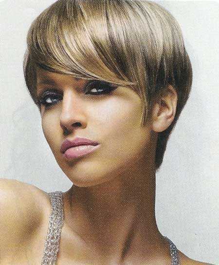Short-Light-Brown-Pixie Short hair color ideas