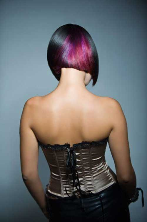 Short-Pink-Hair-Color-Style Short Hairstyle Color Ideas