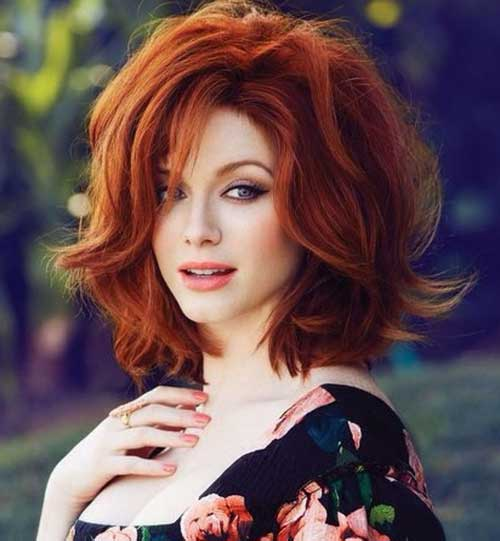 Short-Red-Thick-Curly-Hair Cool Short Red Curly Hairstyle