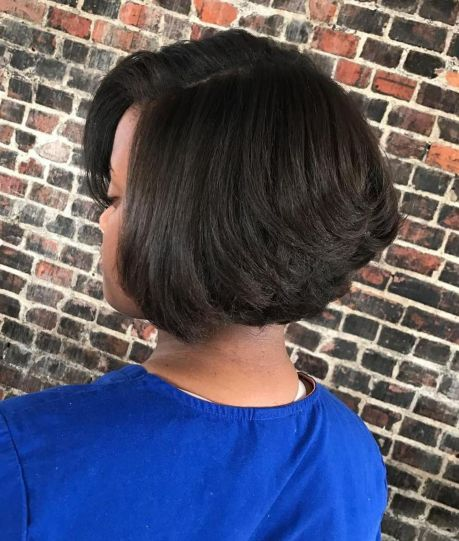 Short-Thick-Stacked-Bob 15 On-trend Bob Haircuts For Black Women