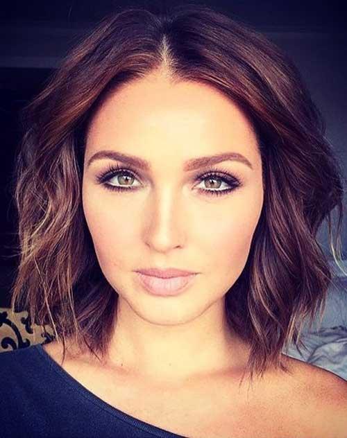 Short-Wavy-Brown-Haircut-for-Women Best Short Hair Cuts For Women