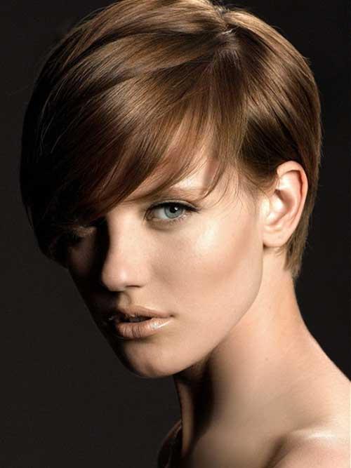 Short-light-brown-hair Best Hair Color for Short Hair