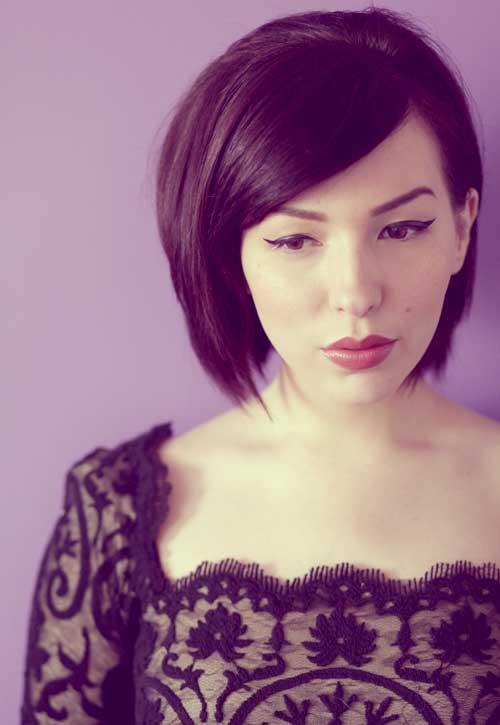 Short-straight-asymmetrical-haircut Best Short Straight Hair for Women