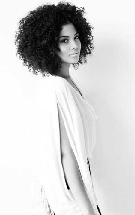Short-to-Medium-Extra-Curly-Hair Short Curly Women's Hairstyles