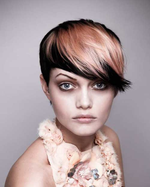 Short-two-tone-hair1 Best Hair Color for Short Hair