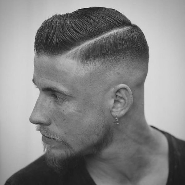 Side-Part-Hairstyle-High-Bald-Fade The Best Haircuts For Men