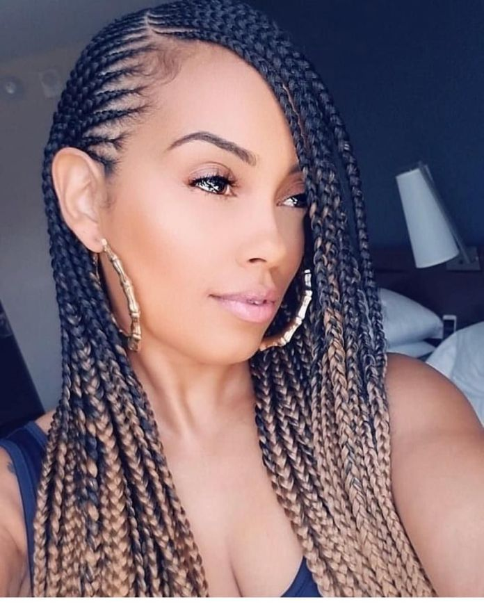Side-Parted-Braids Braids Hairstyles for an Ultimate Princess Look