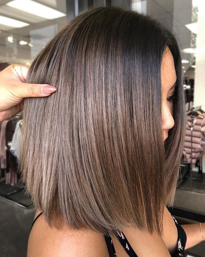 Simple-Brown-Highlights-in-Black-Hair Most Beautiful Black Hairstyles with Highlights