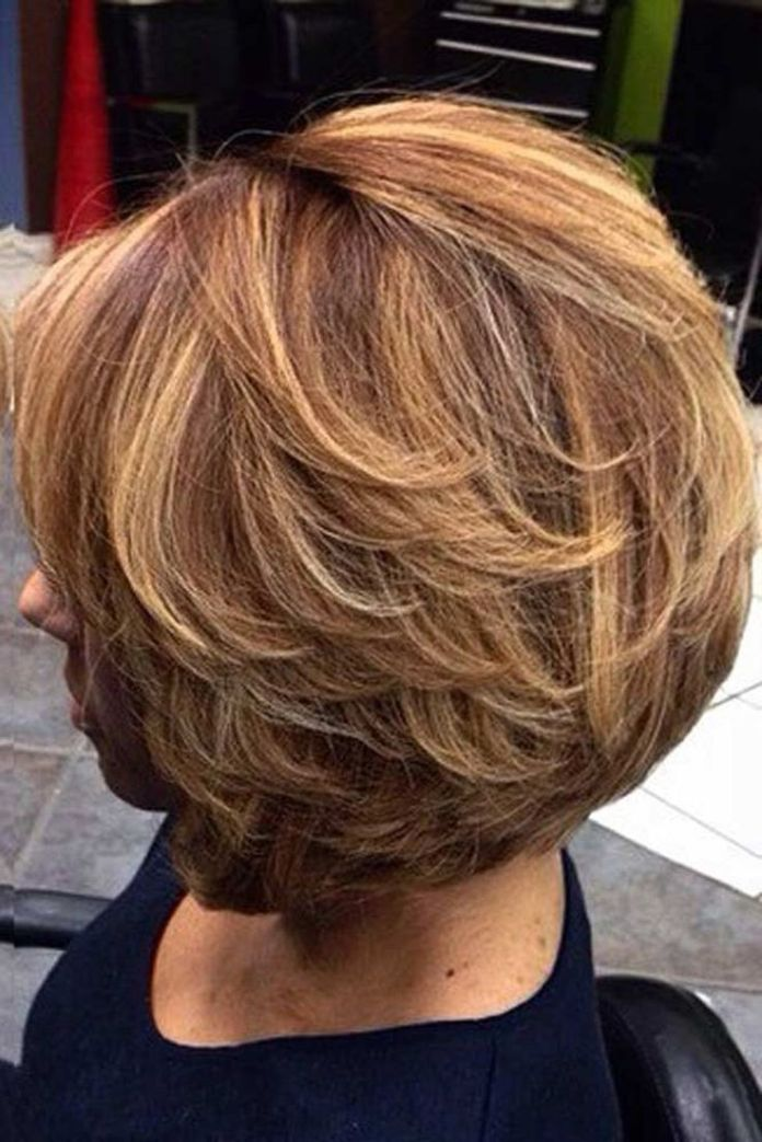 Tapered-Short-Hair-with-Layers Easy Hairstyles for Women Over 50