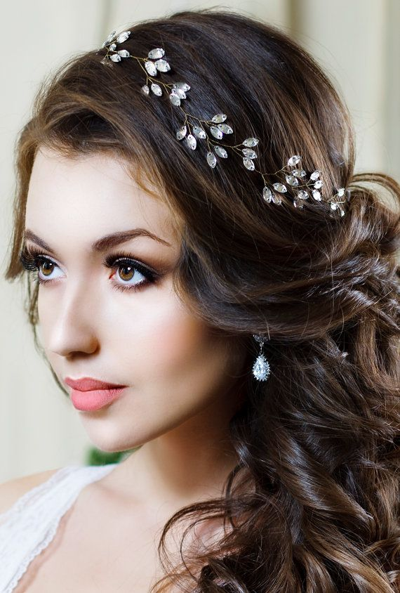 Tendrils-in-a-Tiara Hairstyles with Tiara for Glam and Fab Look